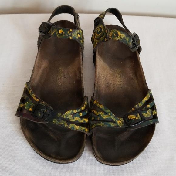 a14c383168d3 Birkenstock Shoes - Hand Painted Birkenstock Leather Sandals 38